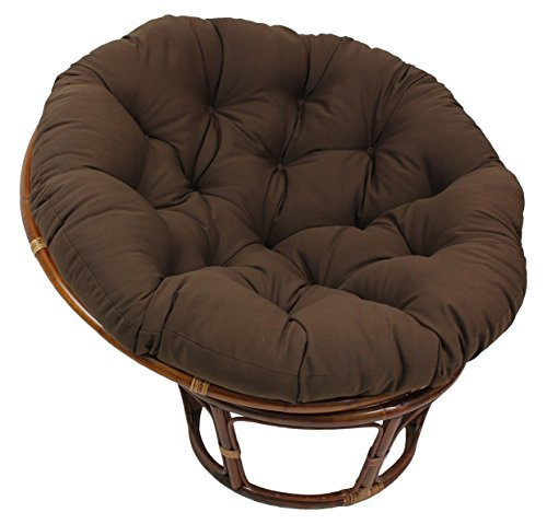 Blazing Needles Solid Twill Papasan Chair Cushion, 52' x 6' x 52', Natural