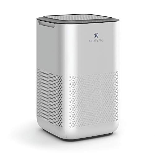 Medify air ma-15 air purifier with h13 hepa filter - a higher grade of hepa | new model july 2020 | '3-in-1' filters | 99. 9% removal in a modern design - silver-1pack