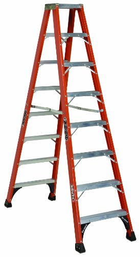 Louisville Ladder 8-Feet Fiberglass Twin Front Ladder, 375-Pound Duty Rating, FM1408HD