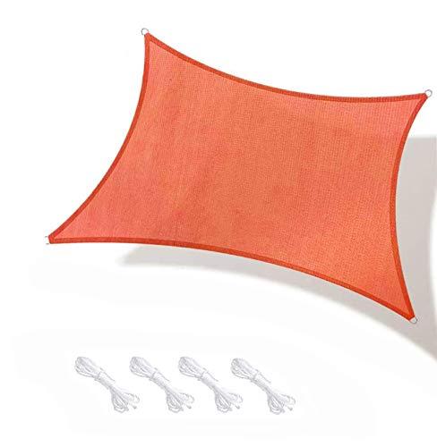 LONGSAND Sun Shade Sail Shade Shade Screen Durable Toldo Grande con toldo al Aire Libre Impermeable para la Cubierta del jardín del Patio de Cubierta, fácil de Instalar,Naranja,4mx5m
