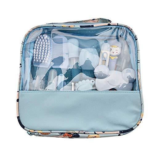 Taoytou Baby Nursing Set, 13pcs Kit Cuidado del bebé Termómetro Cepillo de aseo Suministros para el cuidado de la salud (Azul)