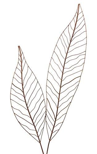 Crispe home & garden Gartenstecker Edelrost - Farn Set | Rankhilfe Gartendeko bestehend aus Zwei verschiedenen Größen Farnblättern