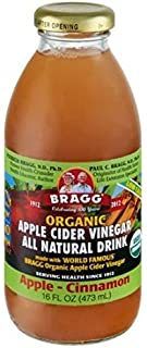 Bragg Organic Apple Cider Vinegar Drink, Apple Cinnamon, 16 oz (Pack of 2)
