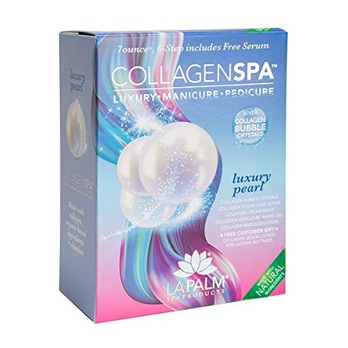 La Palm Collagen Spa Luxury Manicure and Pedicure with Collagen Bubble Crystals - Luxury Pearl (4 Packs)