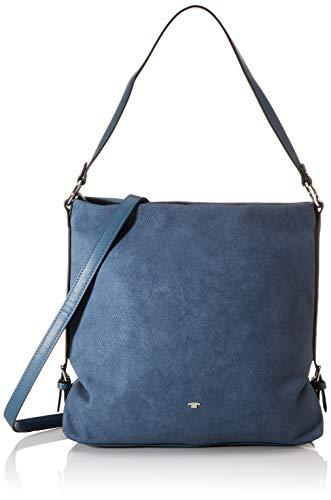 TOM TAILOR Schultertasche Damen Perugia, Blau, one size, Handtasche, Tasche Damen