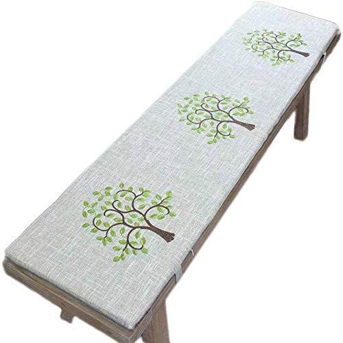 sunshinelh Cojín para banco de jardín de 2 y 3 plazas con lazo, almohadilla antideslizante para asiento de banco de madera, colchón de repuesto para columpio interior y exterior (35 x 160 cm)