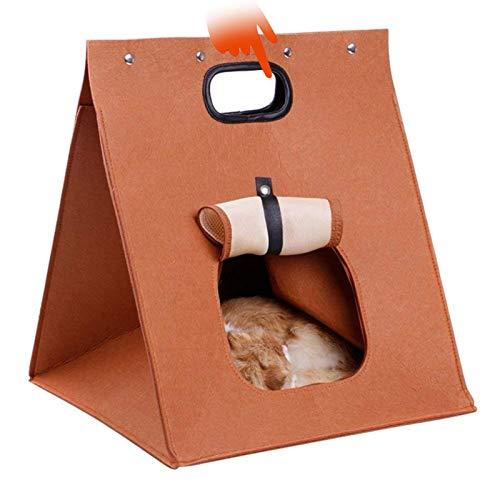 QWET Bolsa Multifuncional para Mascotas, DiseñO PortáTil, Nido para Mascotas De Malla con Bordes De Cuero De PU, General para Perros Y Gatos PequeñOs,Metálico