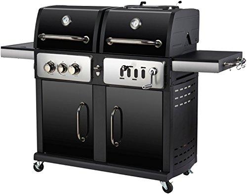 El Fuego Gasgrill und Holzkohle Grill Modell Cheyenne Kombigrill