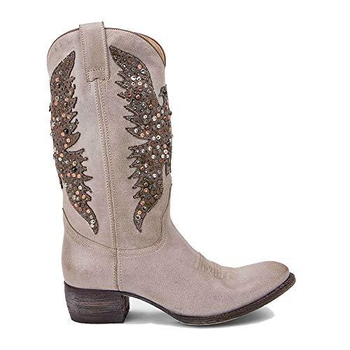 Sendra Boots Western laarzen 8987 Sara Serraje Sabia adelaar laarzen van metaal, taupe
