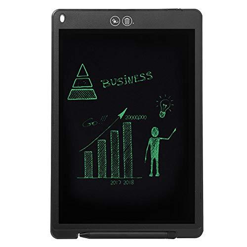 Domybest - Tablet de Escritura LCD de 12 Pulgadas (Pantalla LCD de Pizarra mágica, Ligera, portátil para Escribir, Dibujo de Pizarra Digital con función de borrado Parcial con Estilo)
