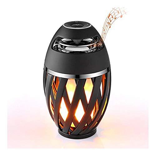 CEyyPD Lámpara De Mesa De Llama LED del Altavoz Al Aire Libre Atmósfera Bluetooth, Equipo De Música Portátil De Mesa Lámpara De Luz Nocturna Inalámbrica, Bluetooth Speaker