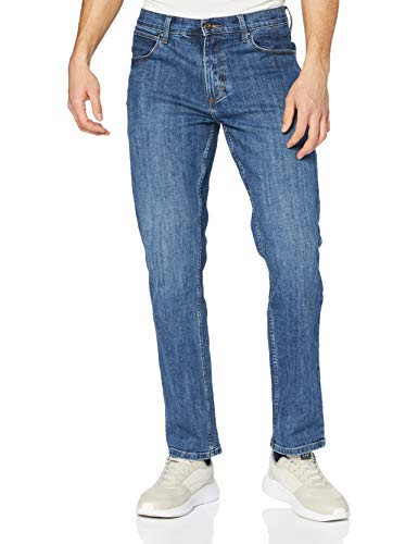 Wrangler Herren Authentic Straight Jeans, Mid Stone 14V, 32W / 34L