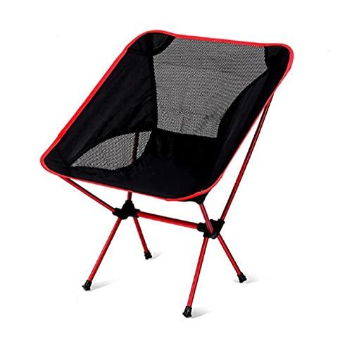 ASDFGHJK KANGYEBAIHUODIAN Sillas de Mochila Camping compactas Ligeras, Silla Plegable portátil para al Aire Libre, Playa, Pesca, Senderismo, Picnic, Viajes (Color : Red)