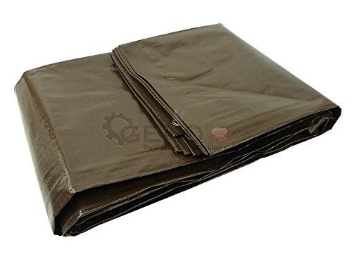 Bâche de protection marron EXTRA EPAISSE - 200 g/m² - 15 x 20