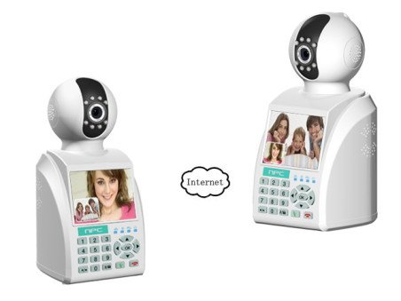 NPC(Network Phone Camera),combining video calls, local and remote monitoring, wireless alarm functions into one