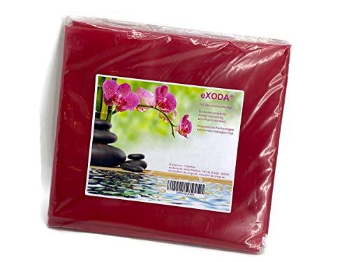 eXODA Inkontinenzlaken Unterlaken Matratzenauflage rot 180x220 cm Inkontinenzauflage Inkontinenz-Bettlaken auch für Kinder