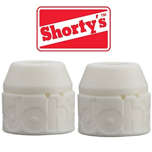 Shorty's White Doh-Doh Bushings 98a Very Hard (2 sets) For Skateboards & Longboards by Shorty's
