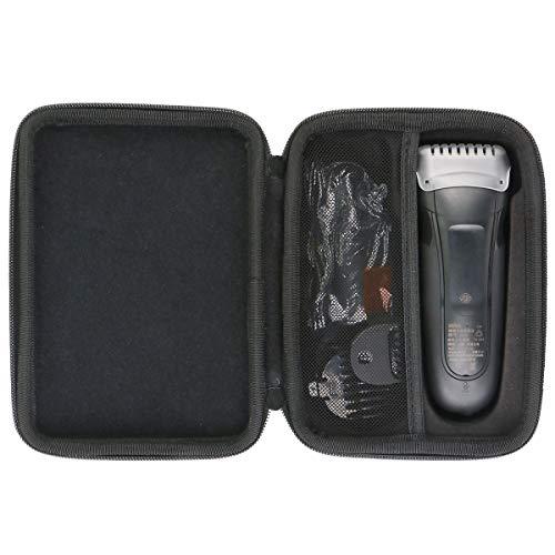 Hart Tasche Hülle für Braun Series 3 3040s /300 /3030s /3020s/3010BT /310 Rasierer Herren Elektrorasierer Hülle Etui Taschen von Aenllosi,schwarz(Nur tasche)