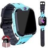 Smart Watch Niños Telefono Estudiante, Realiza Llamadas Mp3 Musica Reloj Infantil Reloj Digital Reloj Despertador Siete Juegos Matemáticos Reloj Inteligente para de Edad 3-12 Niño Regalo (Azul)