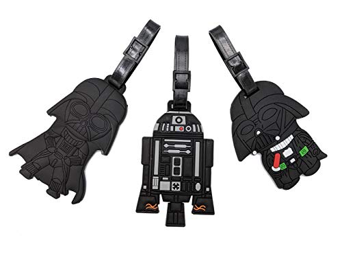 Set of 3 - Super Cute Kawaii Cartoon Silicone Travel Luggage ID Tag for Bags (Star Wars 24)