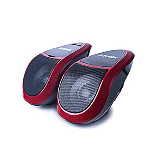 DEALPEAK 12V Motorcycle Bluetooth MP3 FM Audio Radio Sound System Stereo Super BASS Speakers with Inbuilt Amplifier Waterproof (Color : Black+Red)