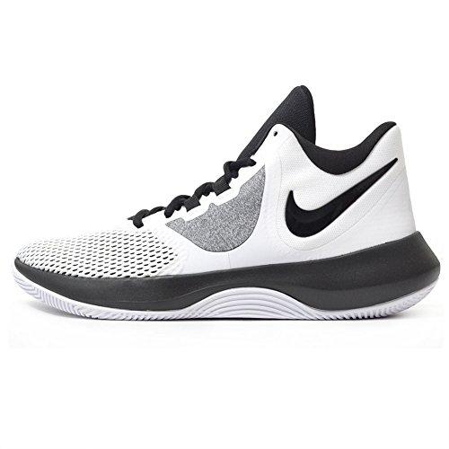 Tênis de basquete masculino Nike, White/Black, 13