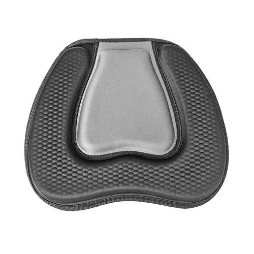 Weiche bequeme EVA gepolsterte Sitzkissen auf der oberen Rückenlehne Sitz für Outdoor-Kajak Kanu Beiboot Boot Zubehör (schwarz)