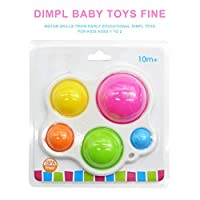 ベビーシリコン両面フリップ感覚ディンプル玩具、ベビー感覚練習ボード、ベビー教育早期教育玩具、6ヶ月以上の幼児に適した指の強さの運動