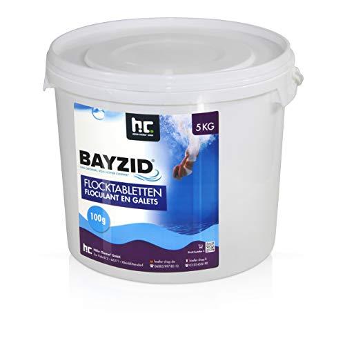 Höfer Chemie 1 x 5 kg Pool Flockungsmittel Tabletten BAYZID einfache Anwendung gegen Trübungen + kristallklares Poolwasser