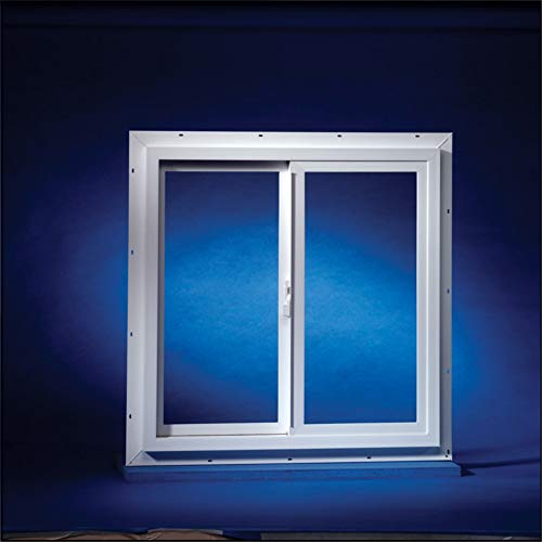 Duo-Corp Agriclass Double Slide Vinyl Utility Window White...