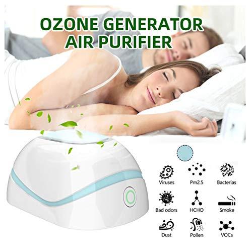 Mini generador de ozono,Purificador aire portátil enchufable Desodorizador olores Esterilizador Eliminador Olorosas Absorbentes Máquina de eliminación Limpiador ozono Ambientador Ionizador,Casa Coche