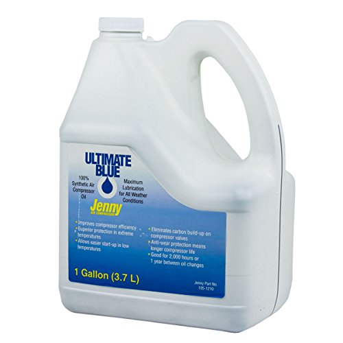 Air Compressor Oil 100% Synthetic 1 GA Gallon Jenny Ultimate Blue 105-1210