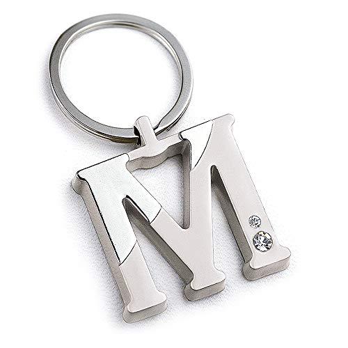 Z87-M0716 - Llavero, diseño de letra M con bolsa