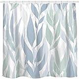 Sunlit Designer Tropical Plant Vine Leaves Fabric Shower Curtains for Bathroom,...