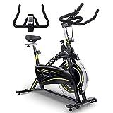 ONETWOFIT Bicicleta estática, magnética para interiores bicicleta estática ajustable con monitor LCD para entrenamiento cardiovascular en el hogar 13KG Volante OT315