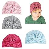 Baby-Turban-Kopfwickel, weiches Stirnband mit Schleife, für Neugeborene, Babys, Mädchen, Kleinkinder, 0–24 Monate Gr. Einheitsgröße, Style C