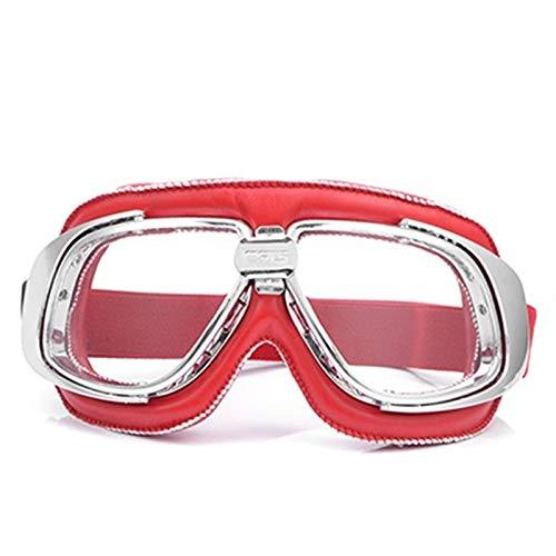 Gafas De Moto,Gafas De Motocross Motocicleta Vintage Gafas Scooter Biker Gafas for gafas (Color : Model 4)