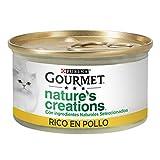 Nestlé Purina Gourmet Nature's Creation Comida húmeda para Gatos Pollo 24 x 85 g - Pack de 24