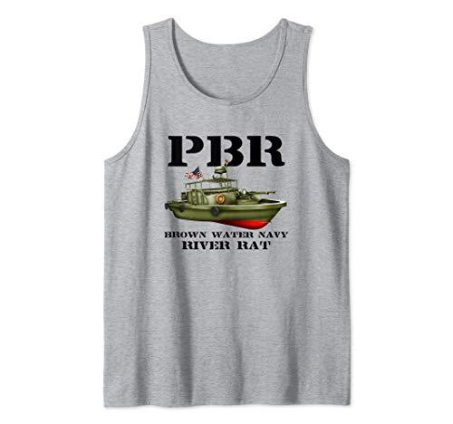 PBR Brown Water Navy Tank Top