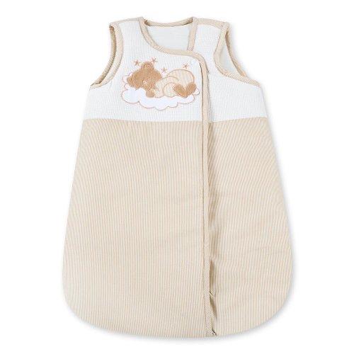 Baby Schlafsack Winterschlafsack/Sommerschlafsack für Jungen und Mädchen 70cm, Modelle:Sleeping Bear Beige