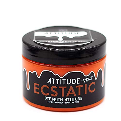 Attitude Haarfärbemittel - Semipermanenter Haarfarbstoff - mit Conditioner und Vegan - Farbe Ecstatic Orange
