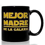 VOODOO ISLAND Taza mug Desayuno de cerámica Negra 32 cl. Modelo Mejor Madre de la Galaxia
