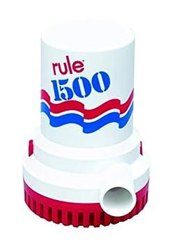 Rule 02 Bilge Pump 1500 GPH Non-Automatic 12 Volt