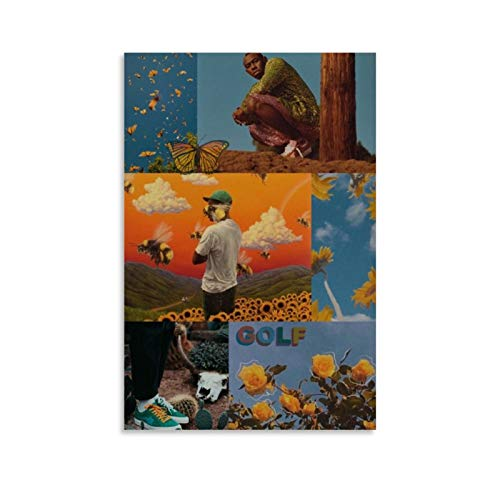 Rapper Tyler The Creator Hip-pop Art Collage Canvas Art Poster and Wall Art Picture Print Modern...