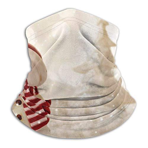 LREFON Pañuelo de Cuello de muñeco de Nieve Dorado de Navidad, pasamontañas para Hombres, Mujeres, protección contra el Polvo del Viento y el Sol