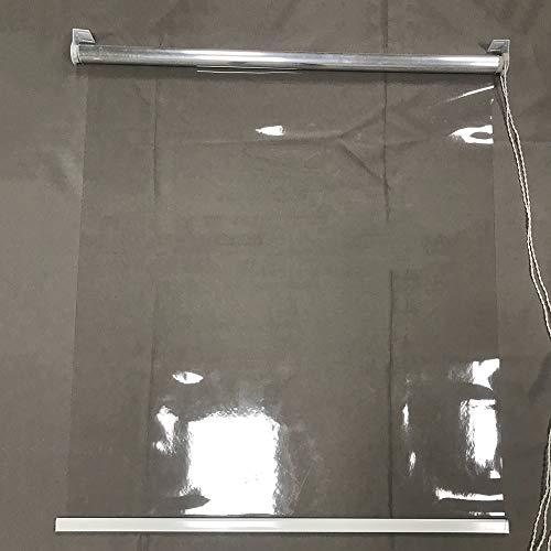 ZLI Persianas Enrollables Persianas Enrollables Transparentes Altas, Cortina de Ventana Ancha de 80cm/100cm/120cm/130cm/140cm para Interior o Exterior, Sala de Reuniones/Balcón (Size : 100×200cm)