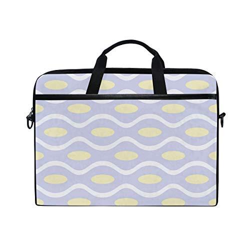 DEZIRO Break Line Encase Oval Laptop Shoulder Bag 15 in Notebook Computer, Briefcase with Side Handles