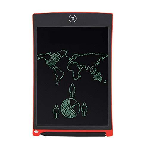 Luoshan Howshow Tableta de Escritura/Tablero de Escritura sin Papel con Sensor de presión LCD de 8.5 Pulgadas E-Note (Negro) (Color : Red)