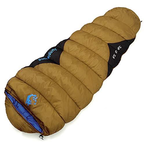 RatenKont Saco de Dormir al Aire Libre 1500G Momia Primavera y Verano Grueso Portátil -20 Saco de Dormir de algodón Acolchado cálido para Acampar 1