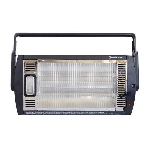 Comfort Zone CZQTV5M Ceiling Mounted Radiant Quartz Heater with Halogen Light Included